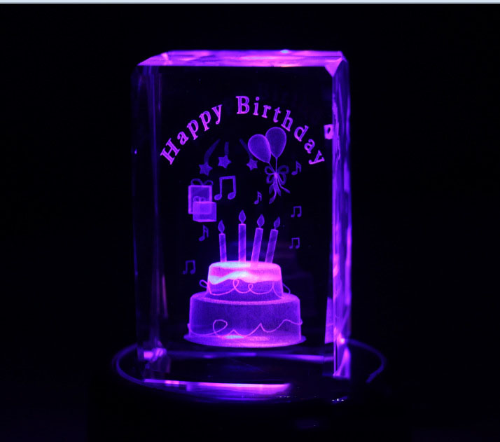 khối pha lê Happy birthday